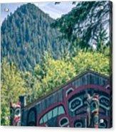 Totems Art And Carvings At Saxman Village In Ketchikan Alaska Acrylic Print