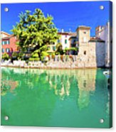 Town Of Sirmione Entrance Walls View Acrylic Print