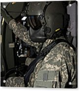 Uh-60 Black Hawk Crew Chief Acrylic Print