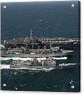 Underway Replenishment At Sea With U.s Acrylic Print
