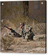U.s. Soldier Conducts A Combat Training Acrylic Print
