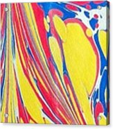 Water Marbling Art, Ebru Acrylic Print