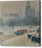 Winter In Union Square Acrylic Print
