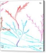 6 Winter Trees Acrylic Print