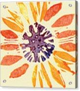 60's Sunflower Acrylic Print by Annie Alexander