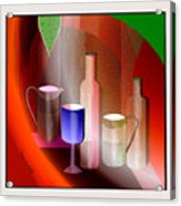 643  Still Life  With Bottles And  Cups  V  Acrylic Print