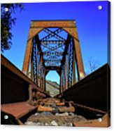 6696 Railroad Bridge Acrylic Print