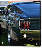 67 Mustang Fastback Acrylic Print