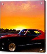 69 Camaro Up At Rocky Ridge For Sunset Acrylic Print