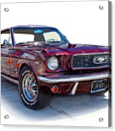 69 Ford Mustang Acrylic Print by Mamie Thornbrue
