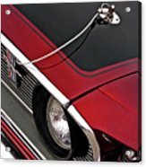 69 Mustang Hood Pin And Grille Acrylic Print