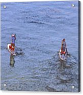 69- Paddle Boarders Acrylic Print