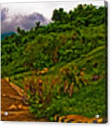 6x1 Philippines Number 470 Panorama Tagaytay Acrylic Print