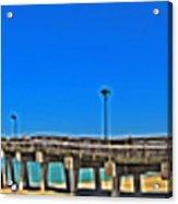 6x1 Venice Florida Beach Pier Acrylic Print