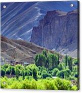 aerial view of Leh ladakh landscape Jammu and Kashmir India Acrylic Print