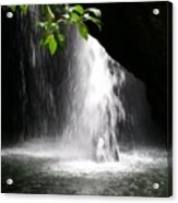 Australia - Peering Into Natural Arch Waterfall Acrylic Print
