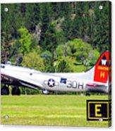 B-17 Bomber Taxiing 1 Acrylic Print