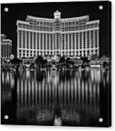 Bellagio Hotel And Casino At Night Acrylic Print