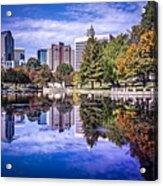 Charlotte City North Carolina Cityscape During Autumn Season Acrylic Print