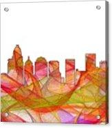 Charlotte Nc Skyline Skyline Acrylic Print