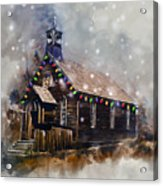 Church At Christmas Acrylic Print