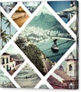 Collage Of Rio De Janeiro Acrylic Print