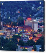 Downtown Morgantown And West Virginia University Acrylic Print