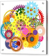 Gears Wheels Design  Acrylic Print