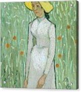 Girl In White Acrylic Print