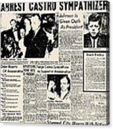 John F. Kennedy (1917-1963) Acrylic Print by Granger