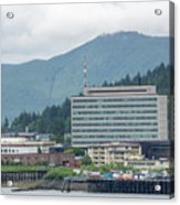 Juneau Alaska Usa Northern Town And Scenery Acrylic Print