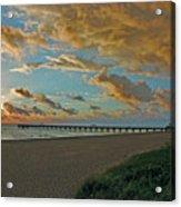 7- Juno Beach Pier Acrylic Print