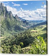 Landscape Around Kasi In North Laos Acrylic Print