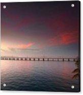 7 Mile Bridge Sunset Acrylic Print