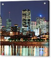 Montreal Over River At Dusk  Acrylic Print
