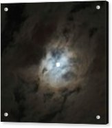 Moon And The Clouds Acrylic Print