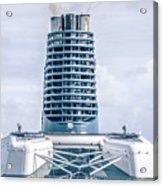 On Deck Of Huge Cruise Liner Ship From Seattle To Alaska Acrylic Print