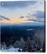 Spencer Butte Winter Summit, Eugene Oregon Feb 2018 Acrylic Print