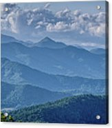 Springtime In The Blue Ridge Mountains Acrylic Print
