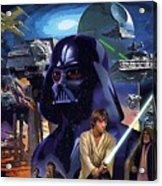 Star Wars Galactic Heroes Poster Acrylic Print