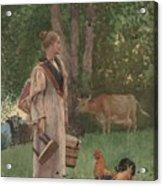 The Milk Maid Acrylic Print
