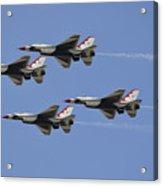 The U.s. Air Force Thunderbirds Fly Acrylic Print by Stocktrek Images
