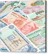 Travel Money - World Economy Acrylic Print