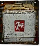 7 Up Vintage Cooler Acrylic Print