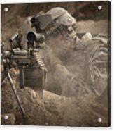 U.s. Army Ranger In Afghanistan Combat Acrylic Print