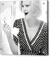 Vintage Val Black And White Acrylic Print