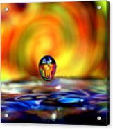 70's Water Drop Acrylic Print