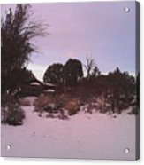 Snowy Desert Landscape Acrylic Print