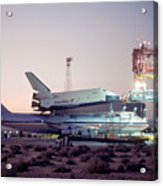 747 With Space Shuttle Enterprise Before Alt-4 Acrylic Print