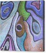 #758 Abstract Drawing Acrylic Print